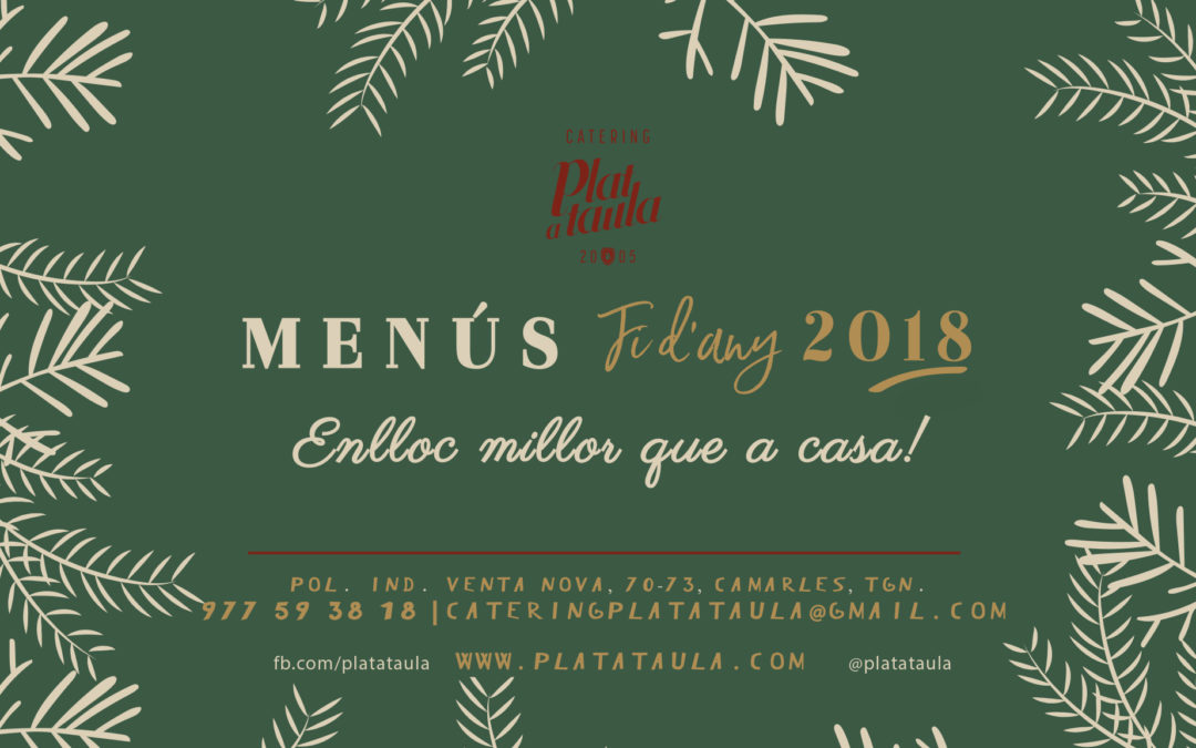 Menús Fin de Año 2018 – G A S T R O B O X  by Plat a Taula CATERING